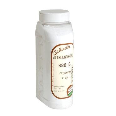 Sitruunahappo kalkinpoistoaineeksi kodinkoneille