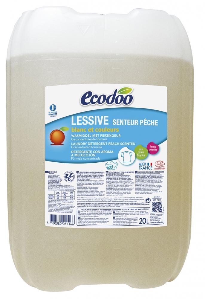 Ecodoo pyykinpesuaine persikka, 20 litraa