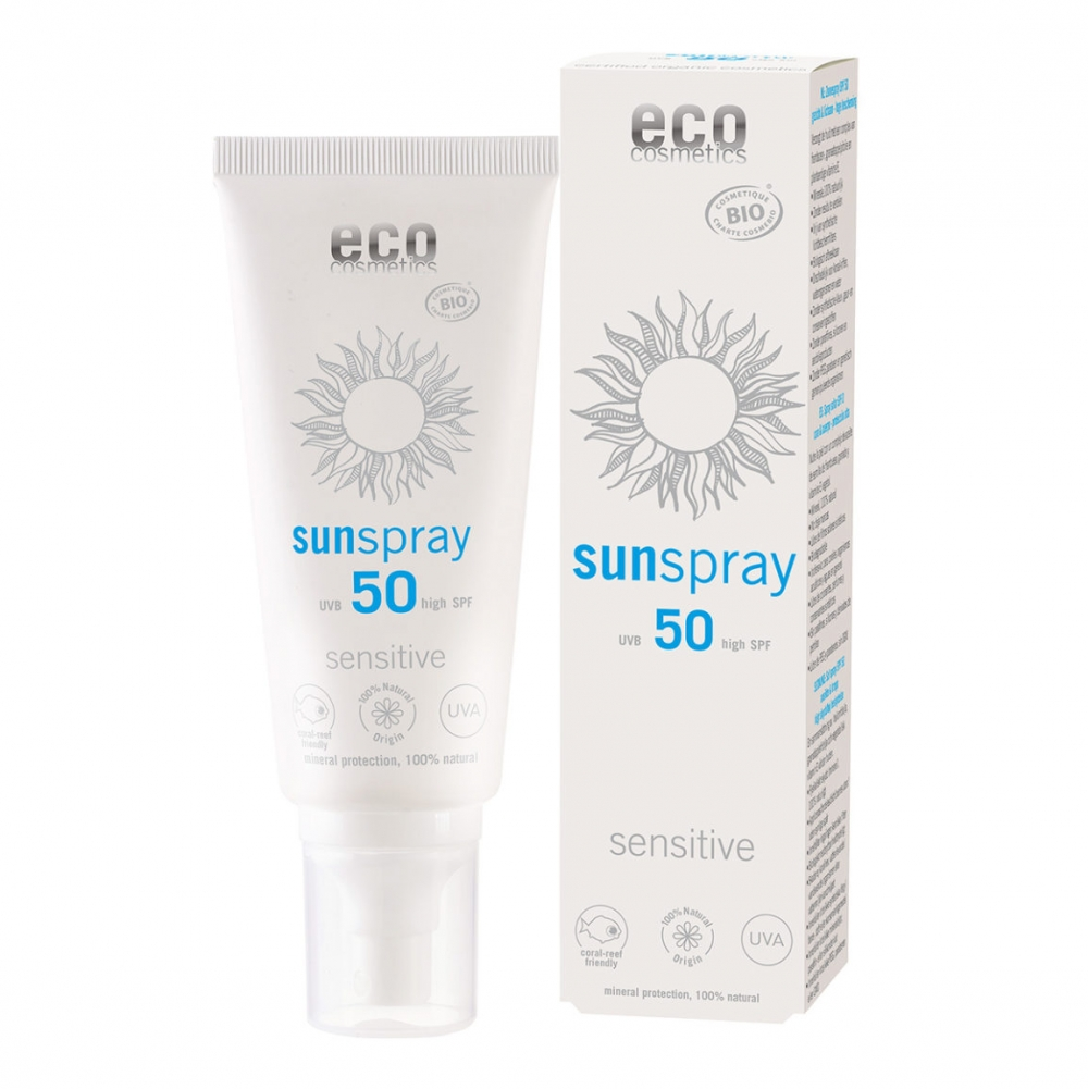 Eco Cosmetics Sensitive aurinkosuojasuihke (SK50)