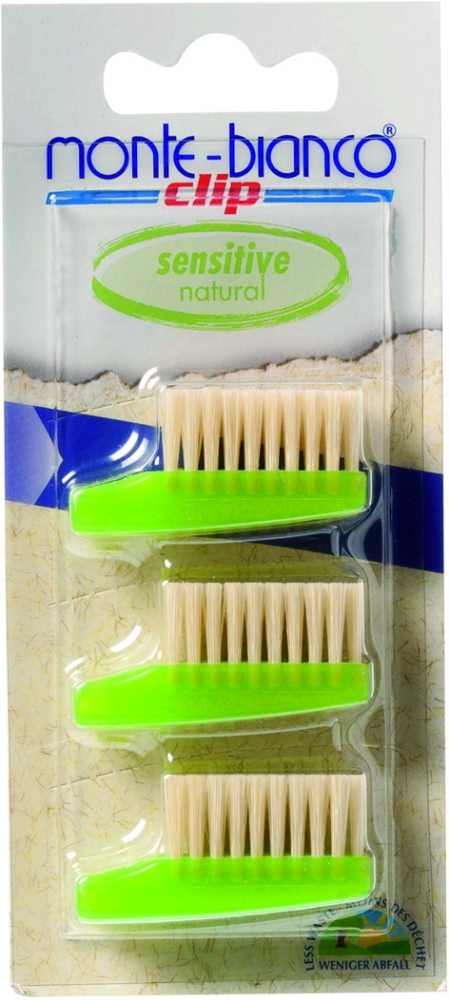 Monte Bianco hammasharjan vaihtopäät 3kpl soft