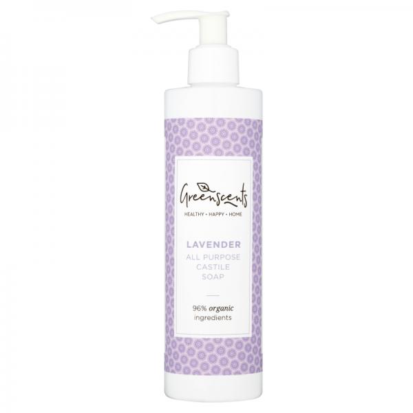 Greenscents monikäyttöinen castile-saippua laventeli