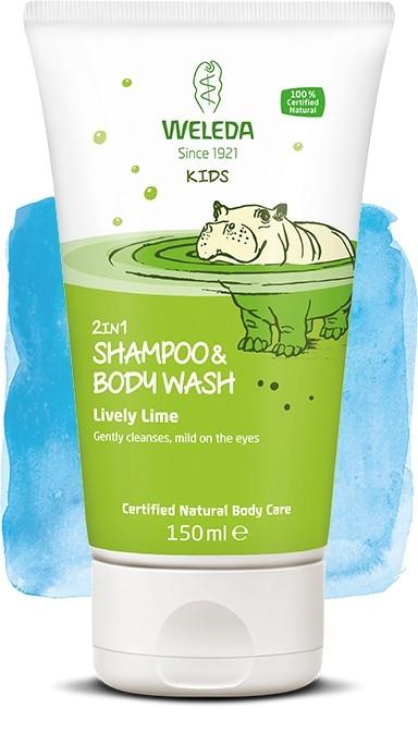 Weleda lasten 2in1 suihkushampoo, Lively Lime
