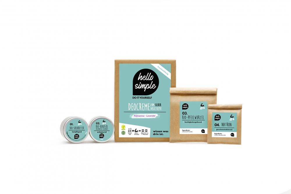 Hello Simple tee-se-itse deodoranttivoide (palmarosa-laventeli)