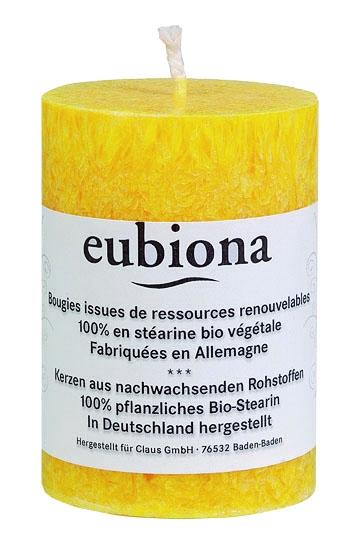 Eubiona pöytäkynttilä 56x80 keltainen