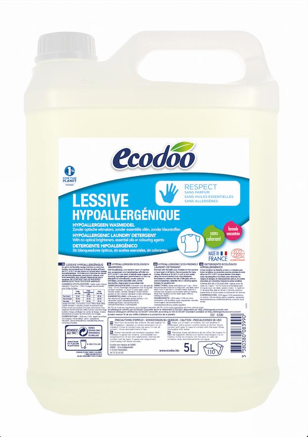 Ecodoo RESPECT hajusteeton pyykinpesuaine, 5 l