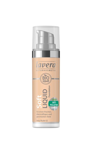 Lavera Soft Liquid Foundation meikkivoide - 02 Ivory Nude