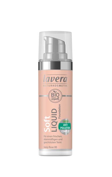 Lavera Soft Liquid Foundation meikkivoide - 00 Ivory Rose