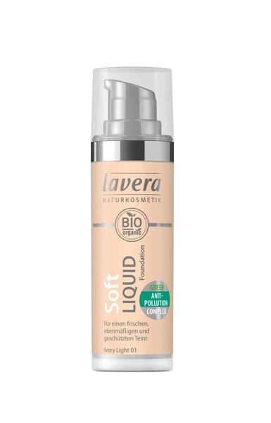 Lavera Soft Liquid Foundation meikkivoide - 01 Ivory Light