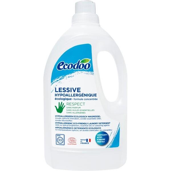 Ecodoo hajusteeton pyykinpesuaine, 1,5 l