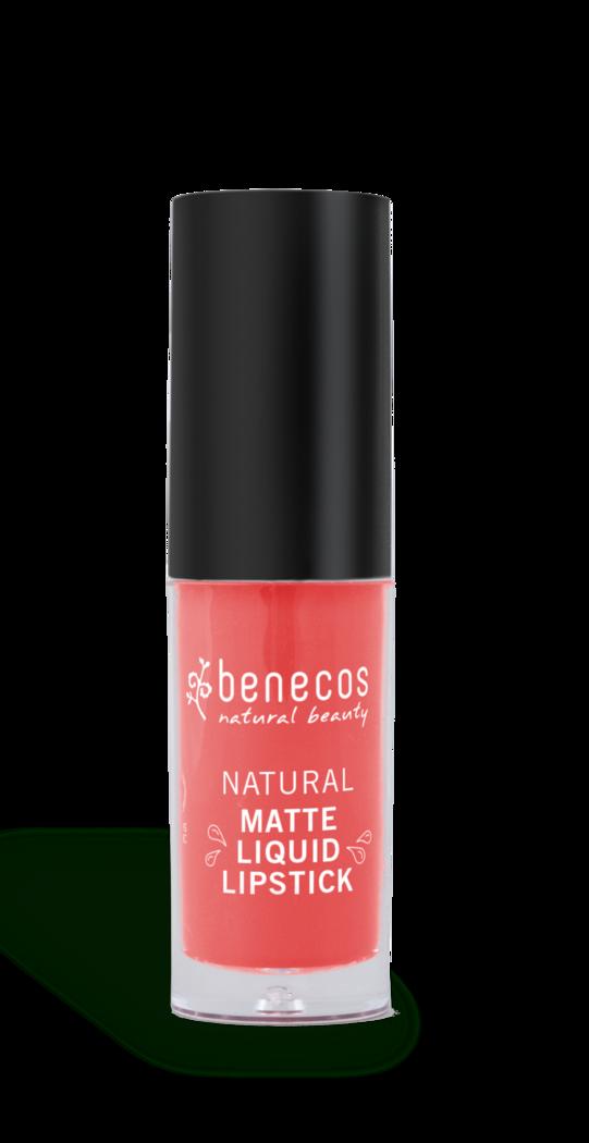Benecos Natural nestemäinen huulipuna Coral kiss