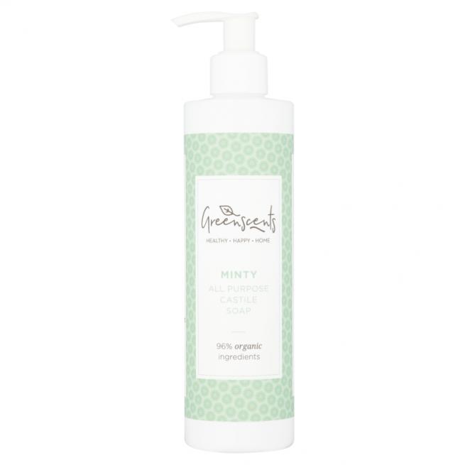 Greenscents monikäyttöinen castile-saippua minttu - näyte 60 ml
