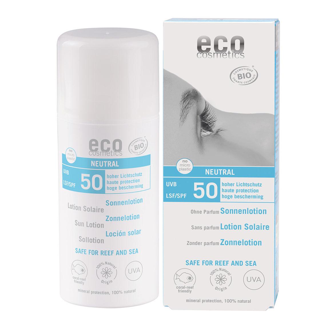 Eco Cosmetics Neutral hajusteeton aurinkoemulsio (SK50)