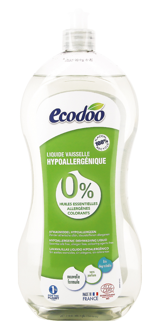 Ecodoo hajusteeton astianpesuaine, 1000 ml