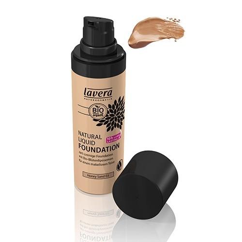 Lavera Natural Liquid Foundation meikkivoide - sävy 03 Honey Sand