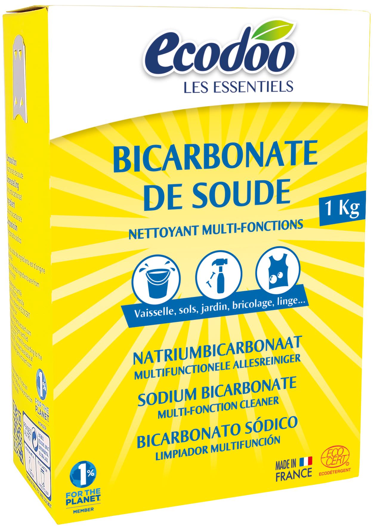 Ecodoo ruokasooda pesu- ja puhdistusaineeksi, 1 kg