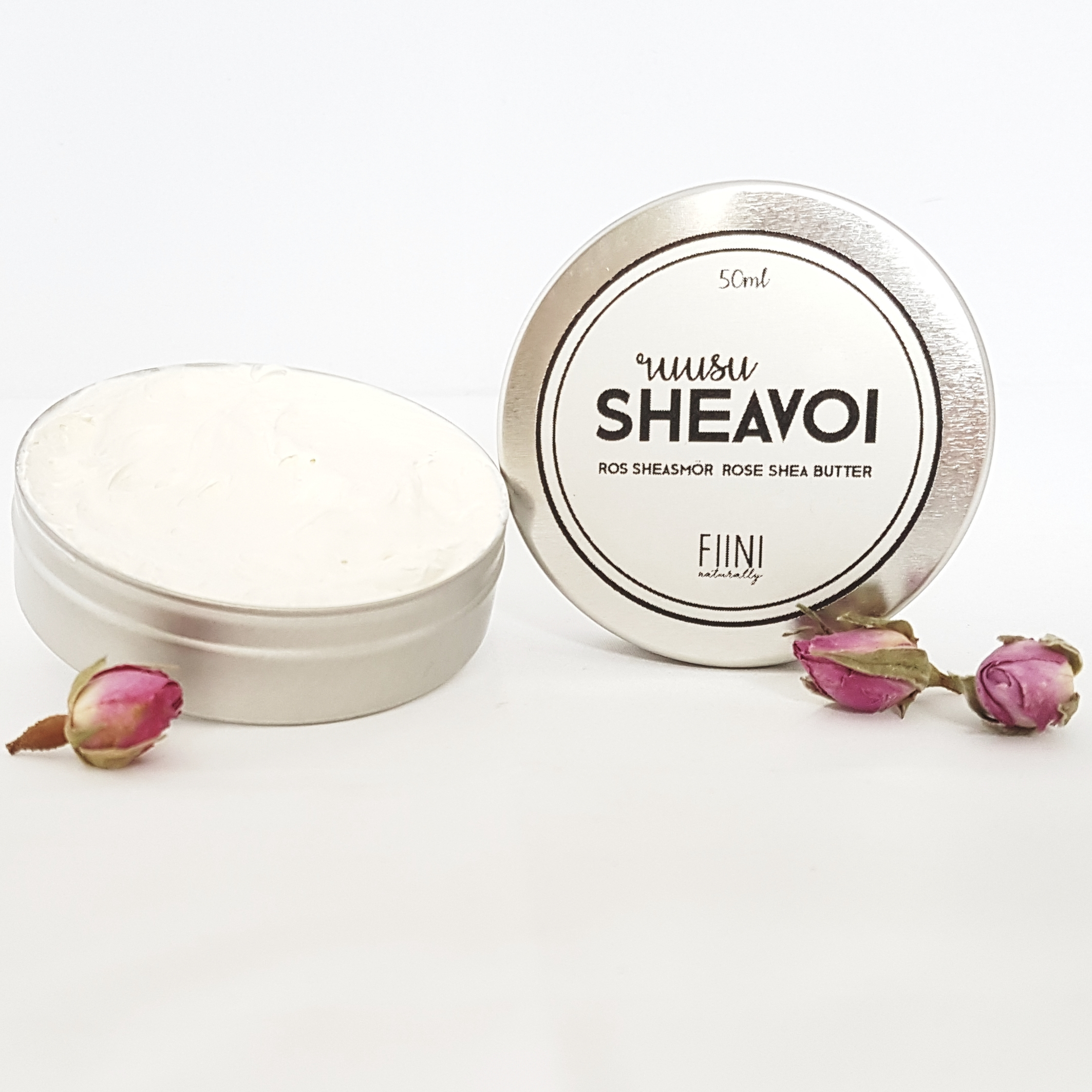Fiini Naturally ruusu-sheavoi, 50ml
