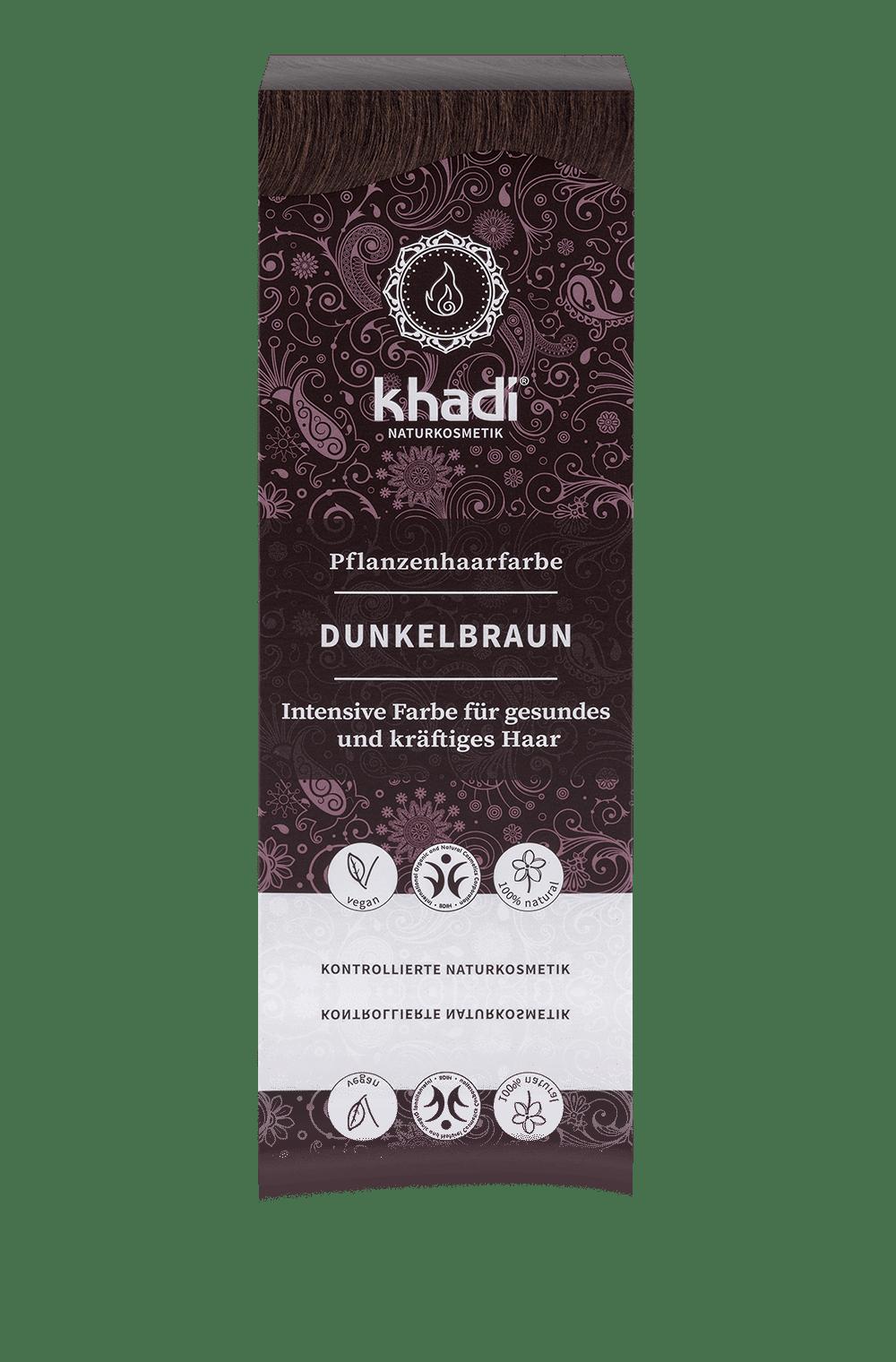 Khadi luonnollinen hiusväri Dark brown