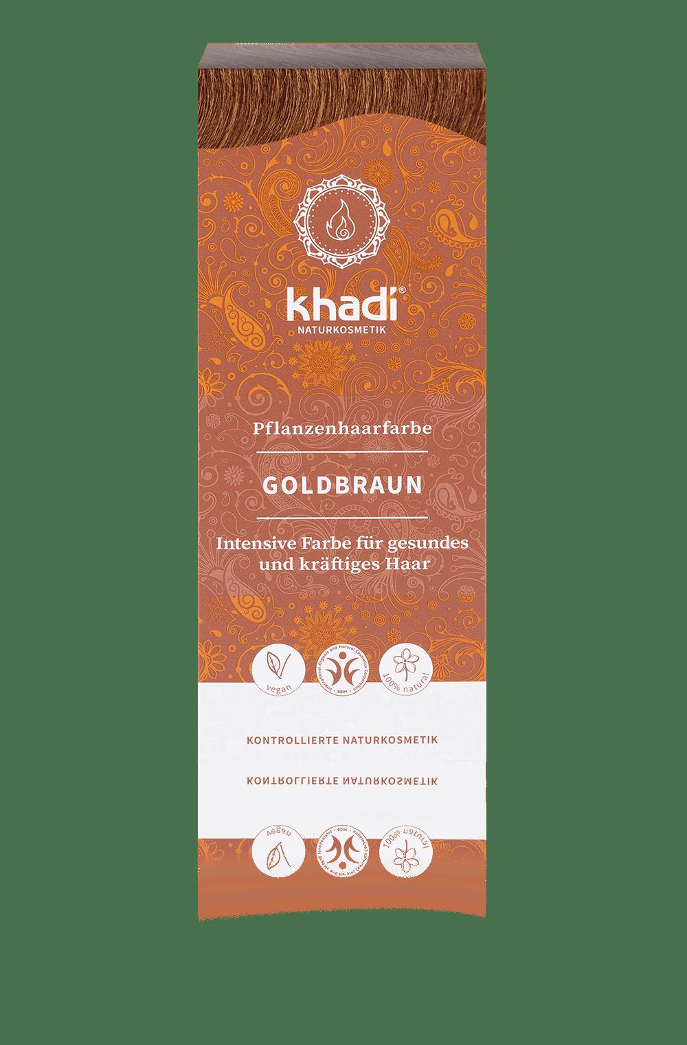 Khadi luonnollinen hiusväri Golden brown