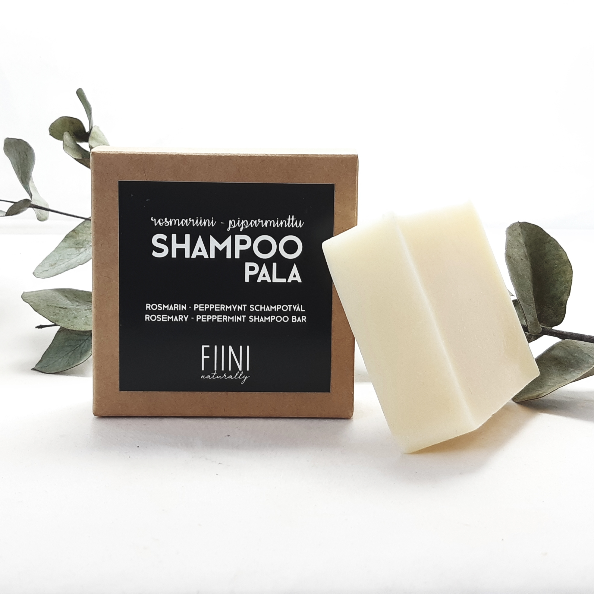 Fiini Naturally shampoopala rosmariini-piparminttu, 105g