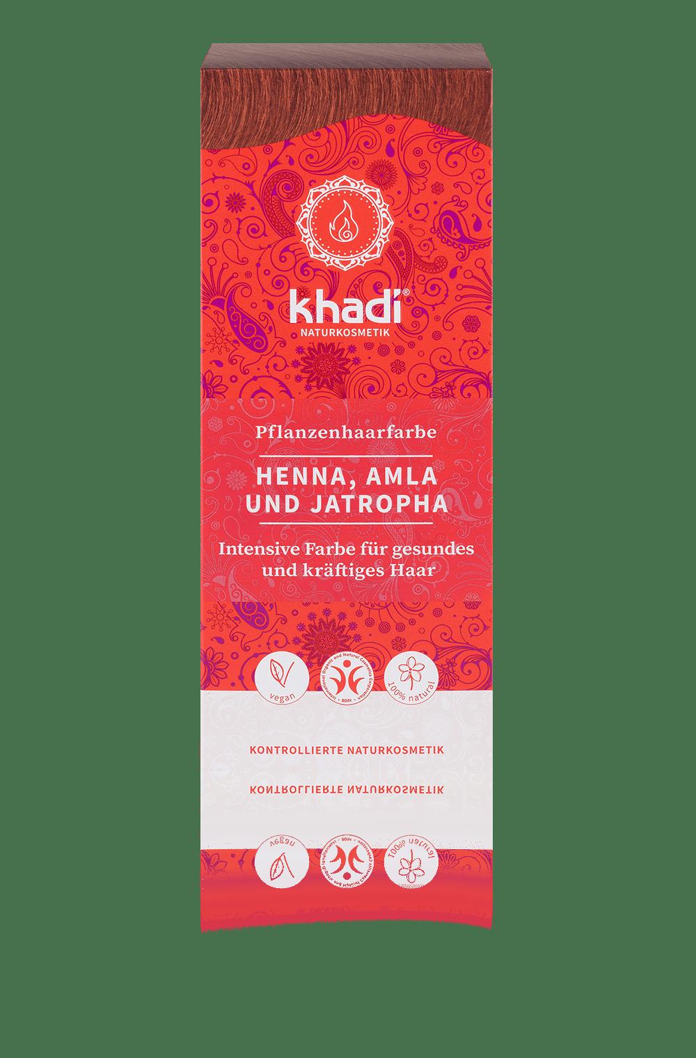 Khadi luonnollinen hiusväri Henna, amla & jatropha