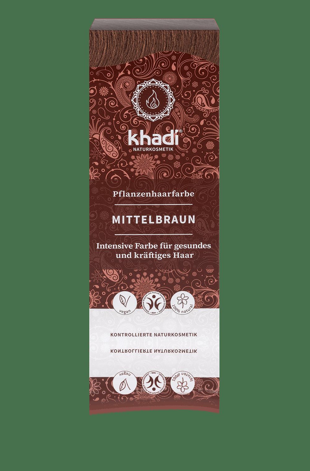 Khadi luonnollinen hiusväri Medium brown