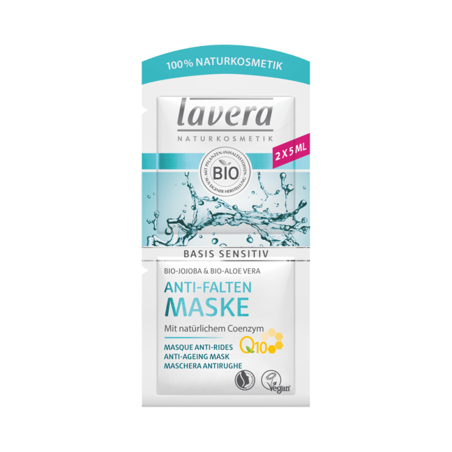 Lavera Basis Sensitiv Q10 kasvonaamio 2X5ml