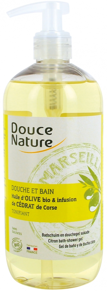 Douce Nature suihkugeeli / kylpyvaahto sitruuna