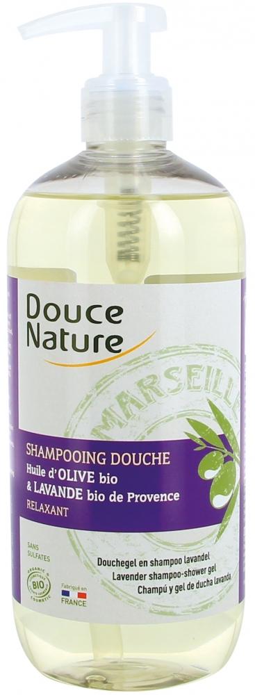 Douce Nature Marseille suihkushampoo, laventeli-oliivi