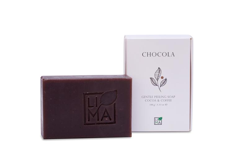 LIMA cosmetics kuoriva suklaasaippua vartalolle
