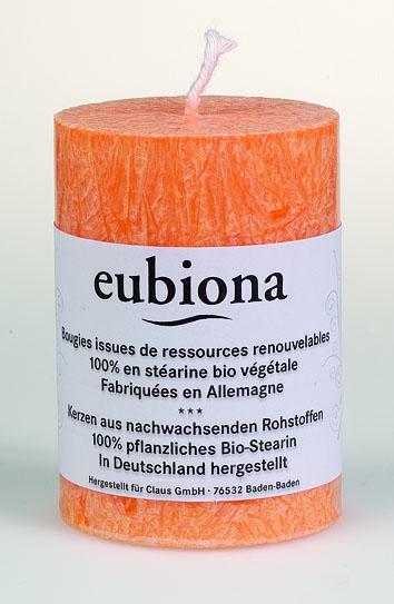Eubiona pöytäkynttilä 56x80 oranssi