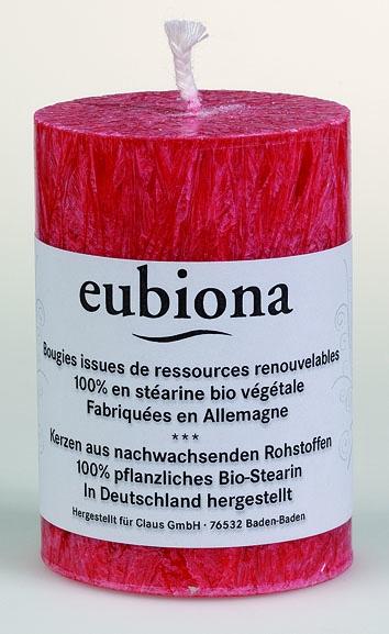 Eubiona pöytäkynttilä 56x80 punainen