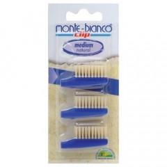 Monte Bianco hammasharjan vaihtopäät 4kpl medium