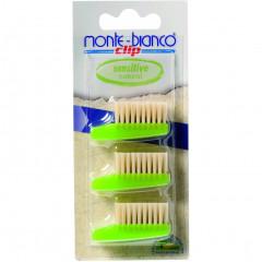 Monte Bianco hammasharjan vaihtopäät 4kpl soft
