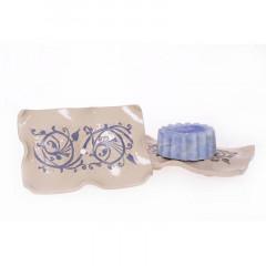 Nelumbo saippua-astia, sininen