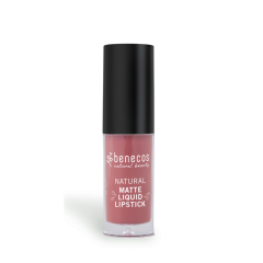 Benecos Natural nestemäinen huulipuna Rosewood romance