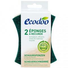 TUPLAPAKKAUS! Ecodoo puhdistussieni kierrätysmateriaalista 2 x 2 kpl/pkt