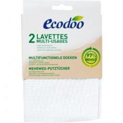 TUPLAPAKKAUS! Ecodoo ekologinen siivousliina 2 x 2 kpl/pkt