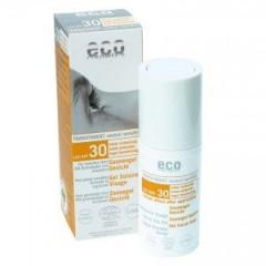 Eco Cosmetics läpinäkyvä aurinkosuojageeli kasvoille (SK30)