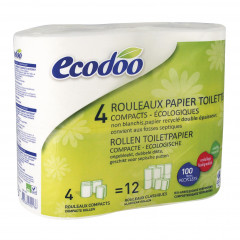Ecodoo wc-paperi 4 rl (iso rullakoko)