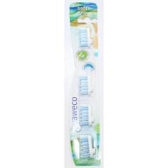 Yaweco hammasharjan vaihtopäät (4 kpl) soft